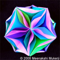 Icosahedron with Curves and Waves by Meenakshi Mukerji