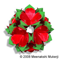 Layered Poinsettia by Meenakshi Mukerji